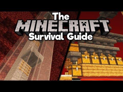 Simple Minecart Elevators & Gold Farm Storage! ▫ The Minecraft Survival Guide [Part 213]