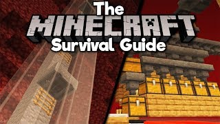 Simple Minecart Elevators & Gold Farm Storage! ▫ The Minecraft Survival Guide [Part 213]