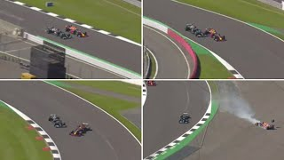 video: Lewis Hamilton and Max Verstappen crash: what happened and who was to blame?