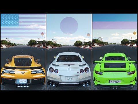 The Ultimate Battle | Forza Horizon 4 | Corvette Z06 vs Nissan GTR vs 911 GT3 RS thumbnail