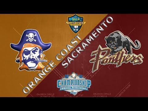 2018 CCCAA Baseball Championship (Gm1): Orange Coast vs Sac City - 5/26/18 - 12pm