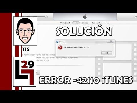 Solución al error -42110 en iTunes - LGUILLOP29