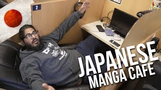 MANGA CAFE TOKYO - I SLEPT IN A CUBICLE! - Tokyo Japan