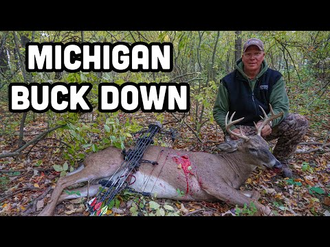 BIG Michigan WhiteTail BUCK Down On PRIVATE Land!! (Deer Hunting 2020)