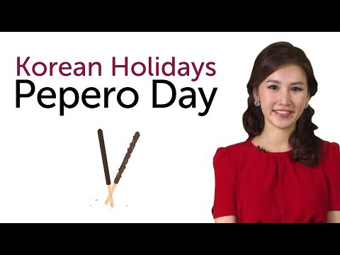 Learn Korean Holidays - Pepero Day
