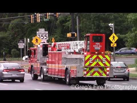 Montgomery County Fire & Rescue Units Responding to Technical Rescue 6/13/19