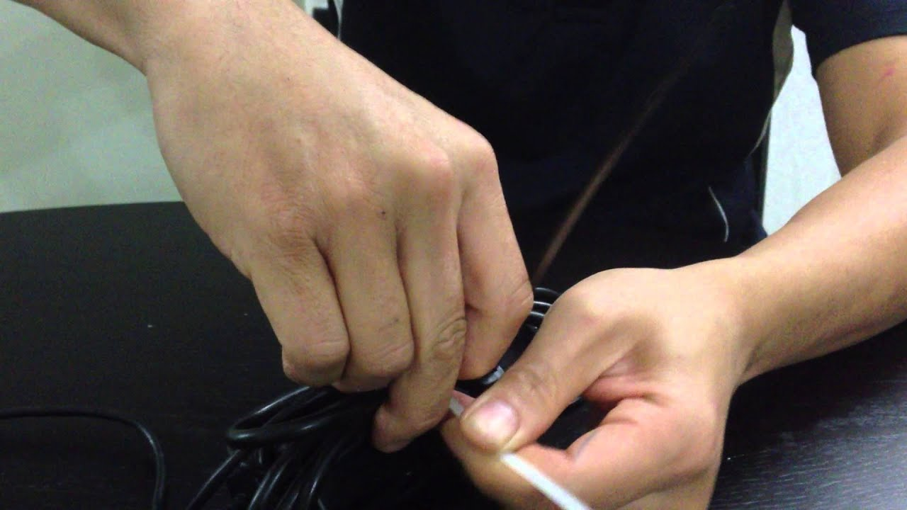 How to untie / undo / unzip a cable tie without cutting it - YouTube