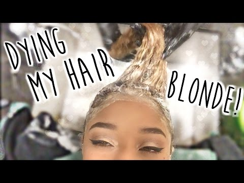 Dying My Hair BLONDE! ♡ How To Dye Curly Hair Blonde & Maintain It