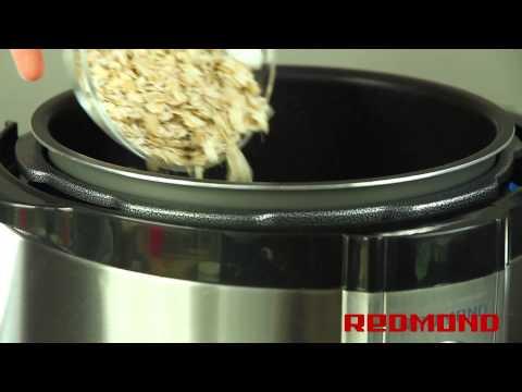 Каша геркулесовая в мультиварке REDMOND RMC-M4504