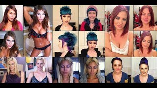 Top 50 Pornstar With And Without Makeup | 50 Adult Film Star Without Makeup