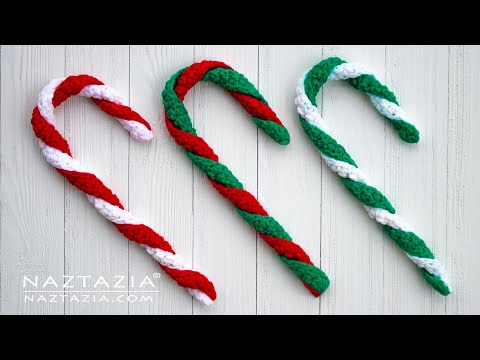 How to Crochet an Easy Candy Cane Decoration for Christmas