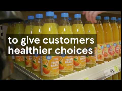Reducing sugar in Tesco soft drinks