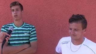 Antonín Štěpánek a Dominik Süč po prohře v 1. kole čtyřhry na turnaji Futures v Ústí n. O.