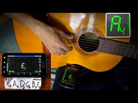 [GUITAR]-Hướng dẫn Lên dây đàn Guitar bằng thiết bị chạy Android-Datuner app