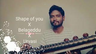 Shape of You | Belageddu | Urvasi | Veena Cover | Mahesh Prasad