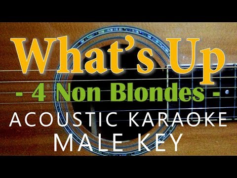 What's Up - 4 non blondes [Acoustic karaoke | Male Key ]
