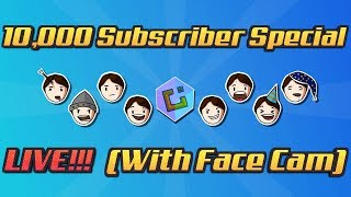 10,000 Subscriber Special LIVE!!! (With Face Cam) (Robocraft)