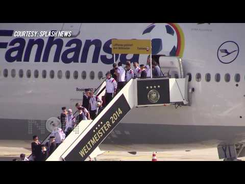 FIFA World Champions Team Germany Arrive With Trophy In Berlin