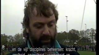 Highland games 1991 met Simon Wulfse, Alistair Gunn, Wout Zijlstra