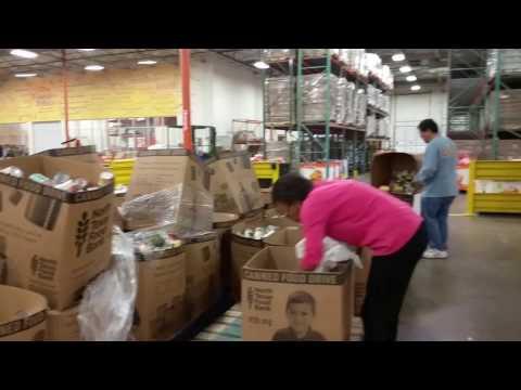 MLK DAY 2017 volunteering at the North Texas Food Bank