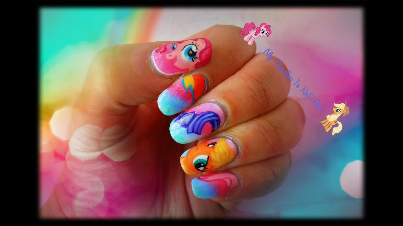 Cute my little pony nail art tutorial youtube prinsesfo Gallery