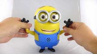 Minion Dave 8 quot Talking Figure with quot Banana quot Mode Review from Thinkway Toys Despicable Me 2 lineup