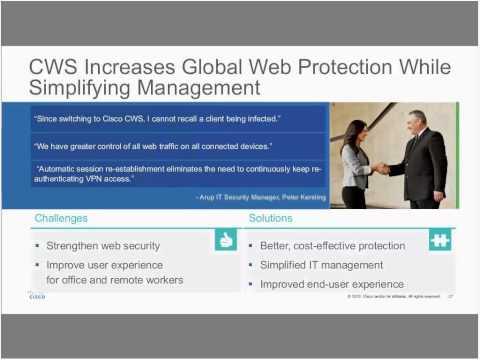 Live Webcast: Cisco Cloud Web Security