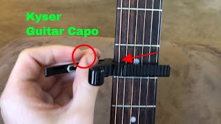 ✅ How To Use Kyser Guitar Capo Review