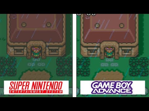 Zelda: A Link To The Past | SNES / GBA | Graphics Comparison