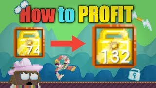 Growtopia | How to PROFIT! (Easy method)