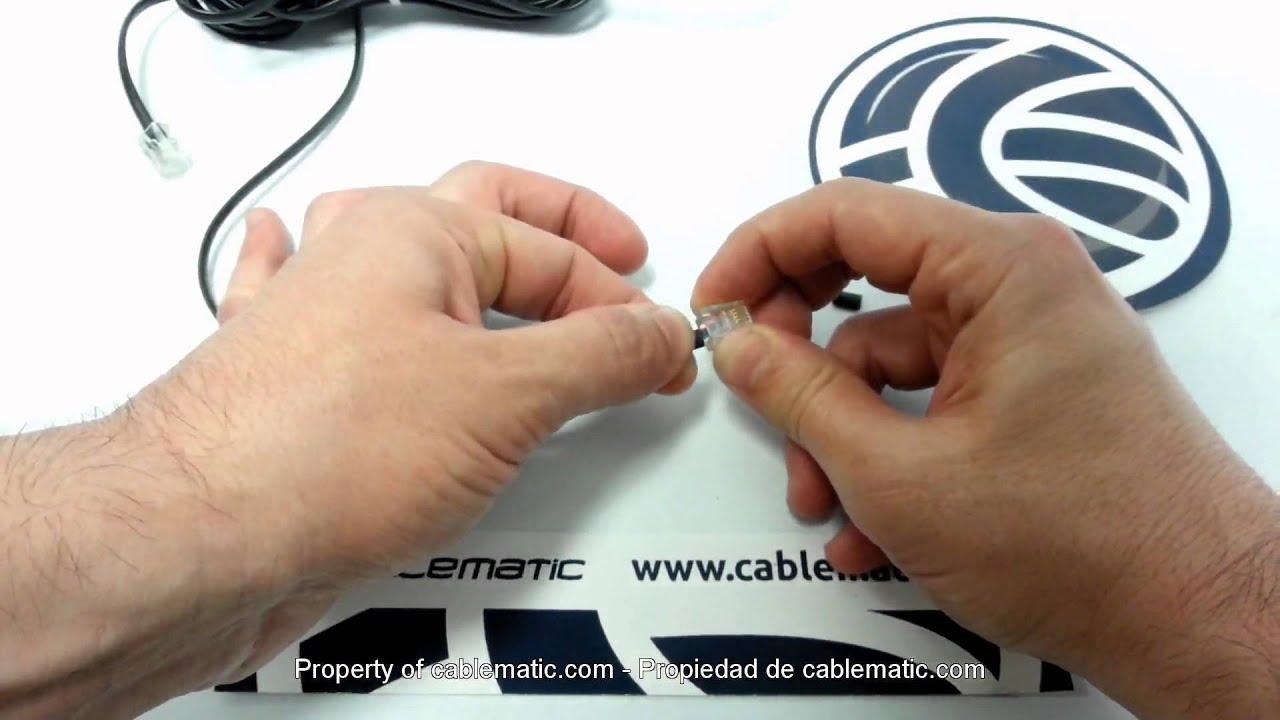 Schema Cablaggio Rj11 : Come montare un connettore rj11 per il cavo telefonico youtube