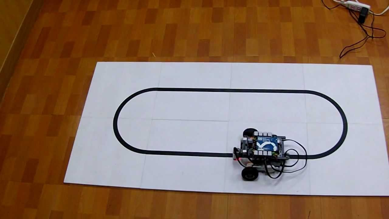 Arduino line following robot with p control method