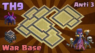 Clash of Clans   Town Hall 9(TH9) BEST War Base 2016 - Anti 3 star + Replays