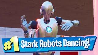 Make A Stark Robot Dance Location & Trick - Fortnite