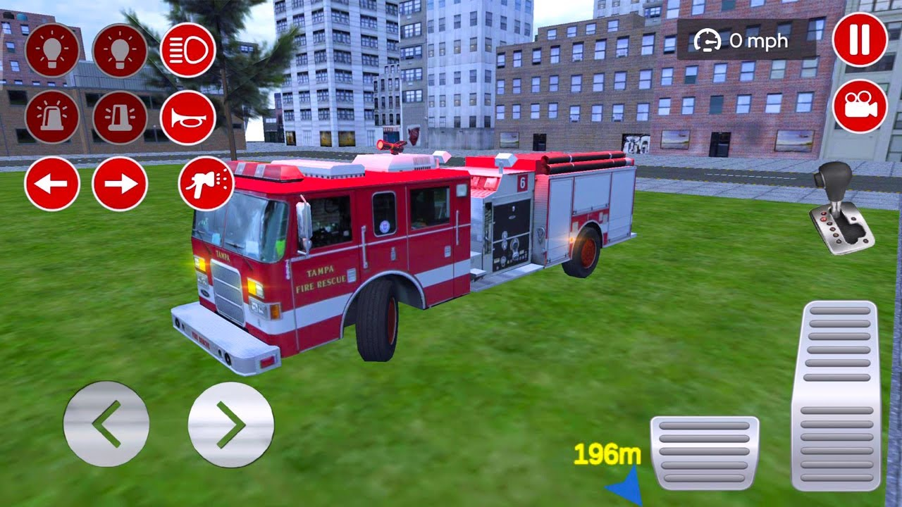 Permainan Mobil Truk Pemadam Kebakaran Panjang - Mobil Mobilan Damkar Padamkan Api & Rumah