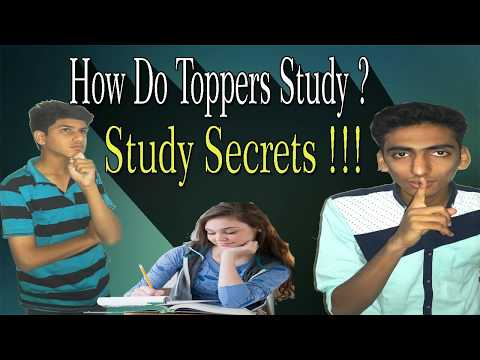 How Do Toppers Study