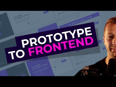 From Prototype UI Design To HTML, CSS & JS Tutorial