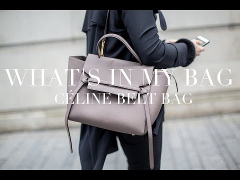 What's In My Bag | Céline Belt Bag