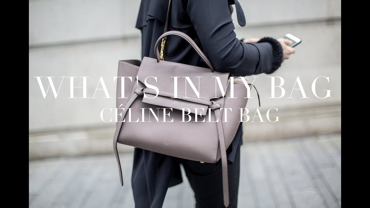 f775a798425 What's In My Bag | Céline Belt Bag