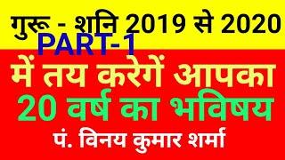 गुरू शनि तय करेगें आपका 20 वर्ष  का भविष्य | Guru Ka Gochar 2019