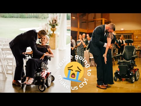 Mom With ALS Lifted To Her Feet To Dance With Son On Wedding Day