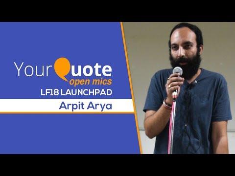 'Kisi Kabarstan Mein Dafan Hoon Main' & More By Arpit Arya   Hindi Poetry   YQ - LF18 Launchpad 4