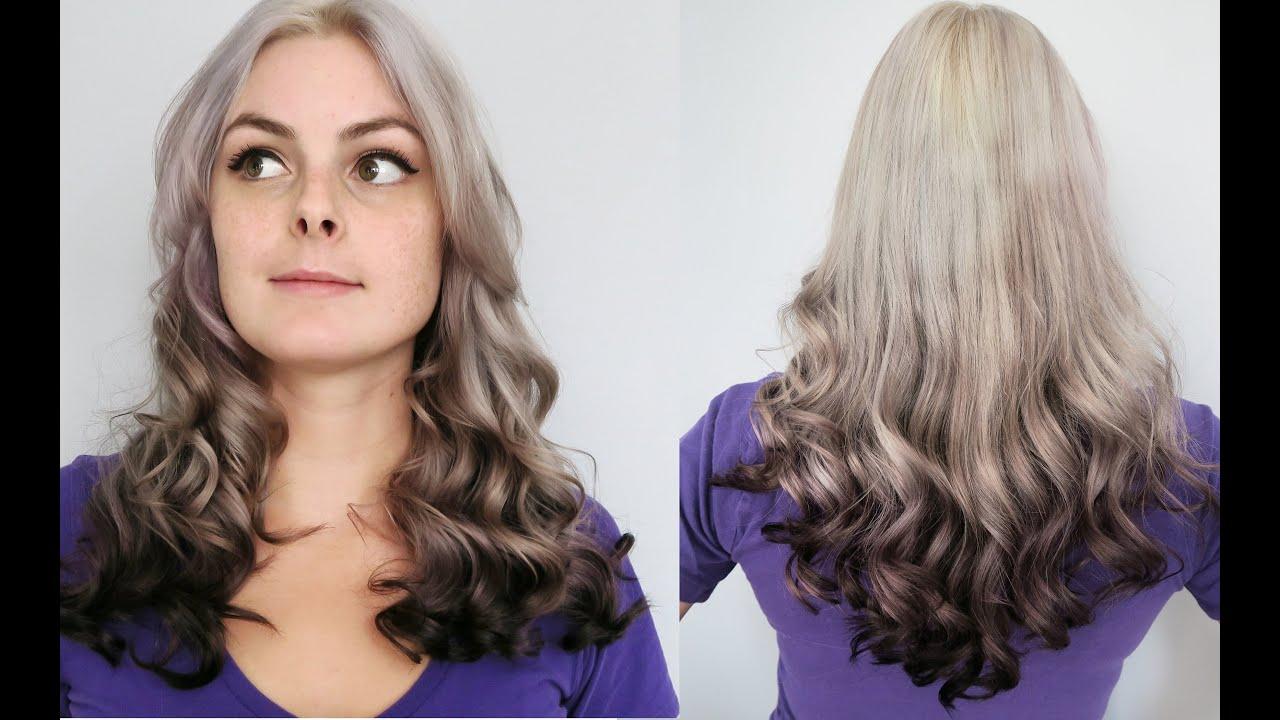 dyeing hair silver grey