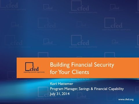 Building Financial Security for Your Clients