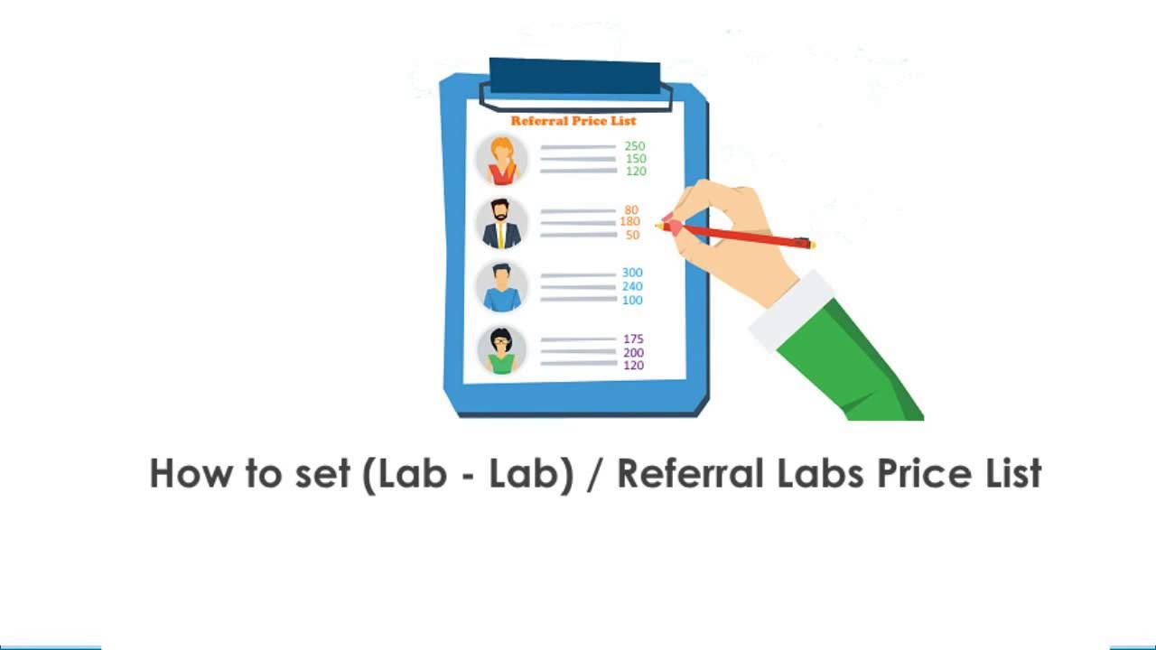 eLab - Create & Set Referral Labs/Lab-Lab test price list
