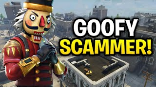 Goofy Childish Scammer Scams Himself! (Scammer Get Scammed) Fortnite Save The World