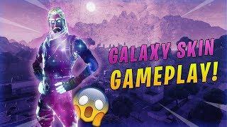 *NEW* GALAXY SKIN GAMEPLAY!! Fortnite Battle Royale Galaxy Skin!!
