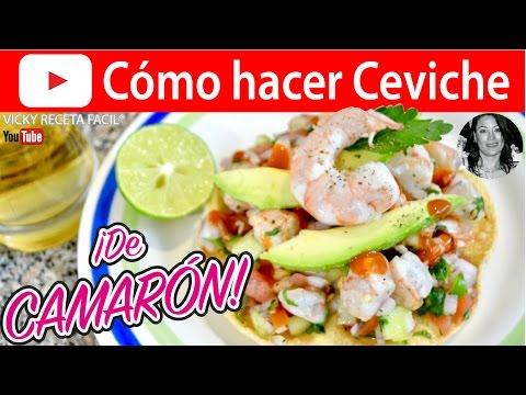 CÓMO HACER CEVICHE DE CAMARÓN   Vicky Receta Facil