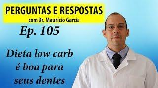 Dieta low carb faz bem para os dentes - Perguntas e Respostas com Dr Mauricio Garcia ep 105