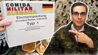 Probando Comida Militar Alemana